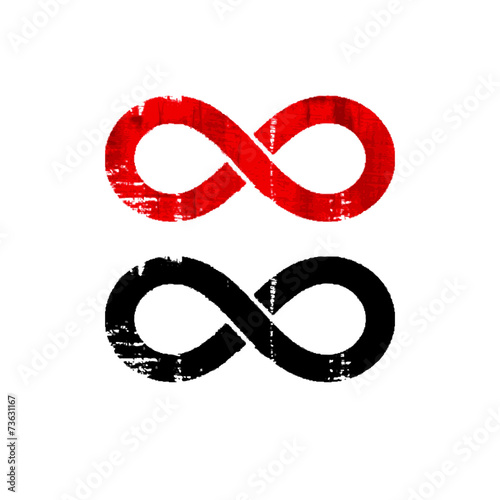 poster of Limitless symbol icon. Grunge vector illustration.