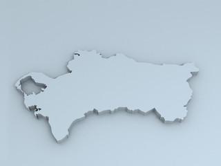 turkmenistan 3D map
