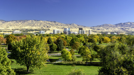 City of Trees Boise Idaho in Fall colors