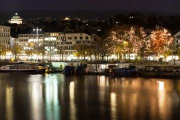 A winter night in Zurich