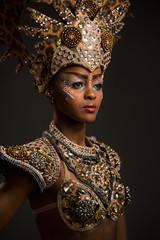 Beautiful african woman wearing carnival dress