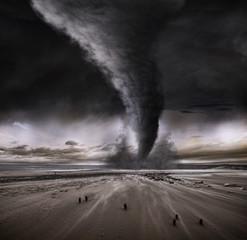 Dramatic Beach Tornado