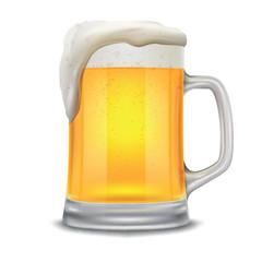 beer glass mug isolated on white background