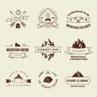 Camping labels set - 73634538