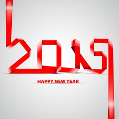 Happy New Year 2015 celebration background in a paper style, pap
