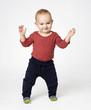 cute  boy standing ovation