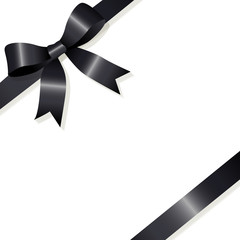 Ribbon loop black mourning