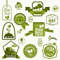 Green eco labels