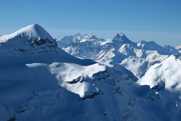 Mt Blanc, view from Glacier de Diablerets