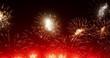 4K - Beautiful colorful firework