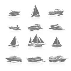 Boats Icons Set
