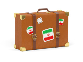 Suitcase with flag of iran