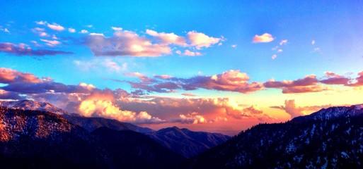 Breathtaking sunset at Big Bear Resort CA