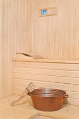 Sauna accessories in the interior