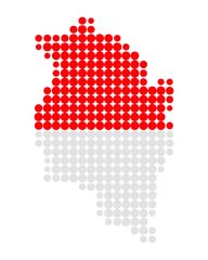 Karte und Fahne von Vorarlberg