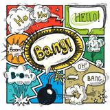 Fototapety Comic speech bubble