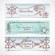 Yachting banners set - 73637944