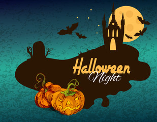 Halloween colored background