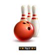 Bowling isolated set
