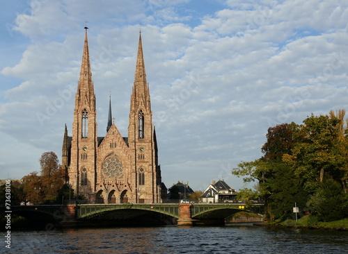 canvas print picture Kirche Saint Paul in Straßburg