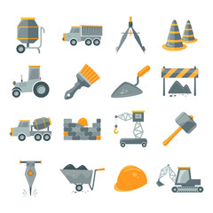 Construction icons set