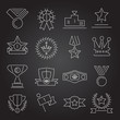 Award icons set outline