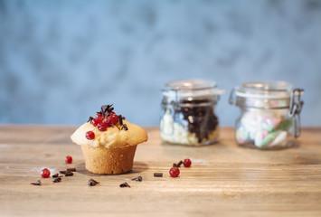 Muffin con frutti di bosco ribes