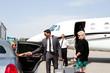 Leinwanddruck Bild - Diva arrives at private jet