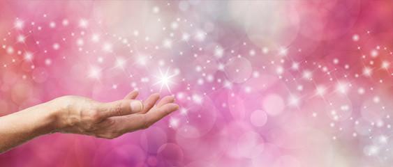 Gift Voucher Sparkling Pink Glitter Bokeh Banner