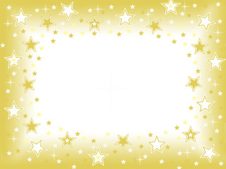 Gold star blank center space background