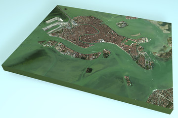 Venezia, Italia, mappa, vista satellitare in 3d
