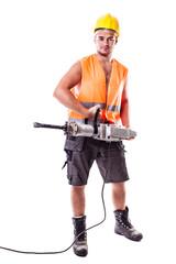 Holding a Jackhammer