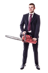 Chainsaw businessman