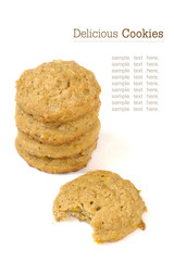 Stack of cookies close up look
