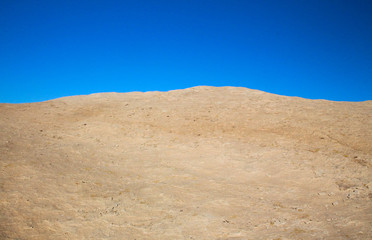 White limestone and blue sky