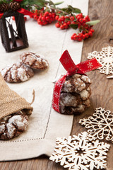 Chocolate - Truffle Cookies for Christmas