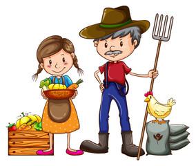 A farmer and a vendor