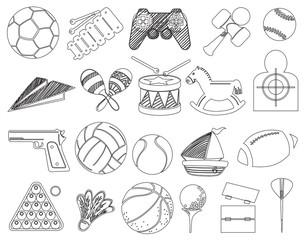 Doodle design of toys