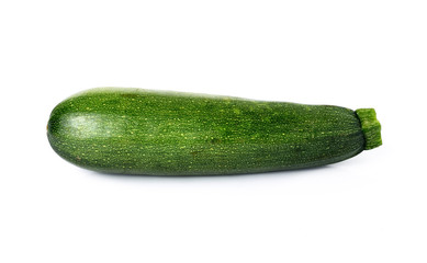 Fresh zucchini isolated on white