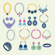 Set of jewelry icons - Illustration - 73643517