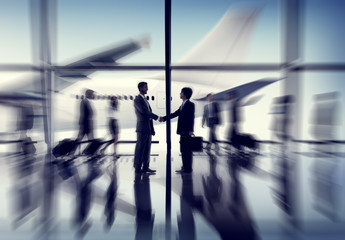 Airport Airplane Business Travel Transportation Commute Concept