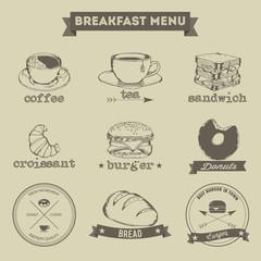 Breakfast Menu Hand Drawing Style