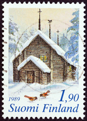 Sodankyla Church, Lapland (Finland 1989)