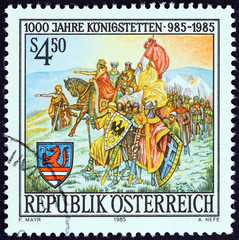 Founding of Koningstetten by Charlemagne (Austria 1985)