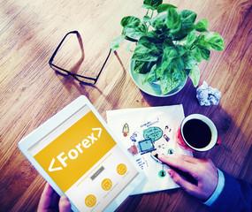 Forex Exchange Trade Change Barter Concept
