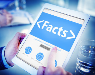 Facts Information Data Analysing Reality Concept