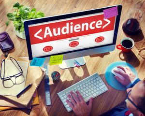 Digital Online Audience Viewers Public Concept