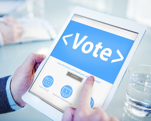 Online Vote Democracy Politcs Election Government Concep