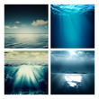 Abstract marine assorted backgrounds for your design