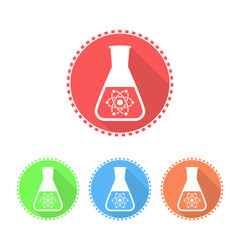 Simple icons of conical flask